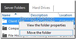 Move the folder