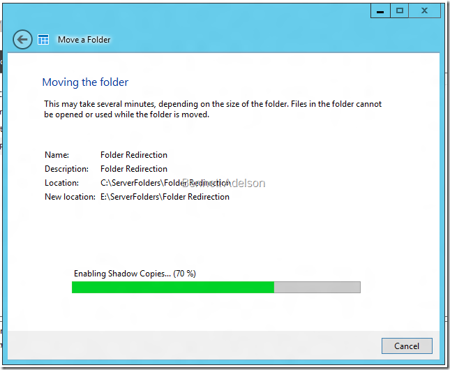 Moving the folder