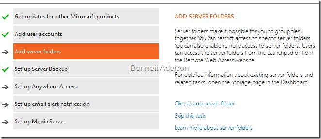 Add server folders