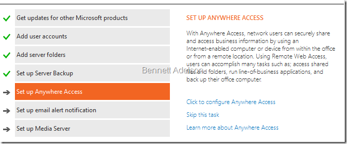 Set up Anywhere Access