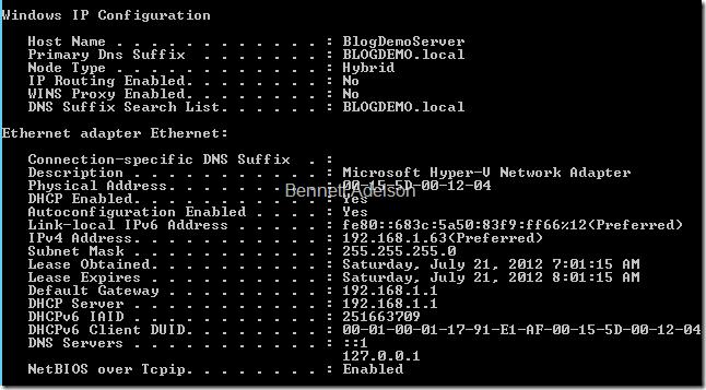 IPConfig - Local DNS