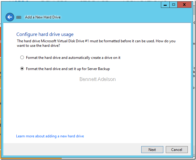 Configure hard drive usage