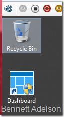 Dashboard on Desktop