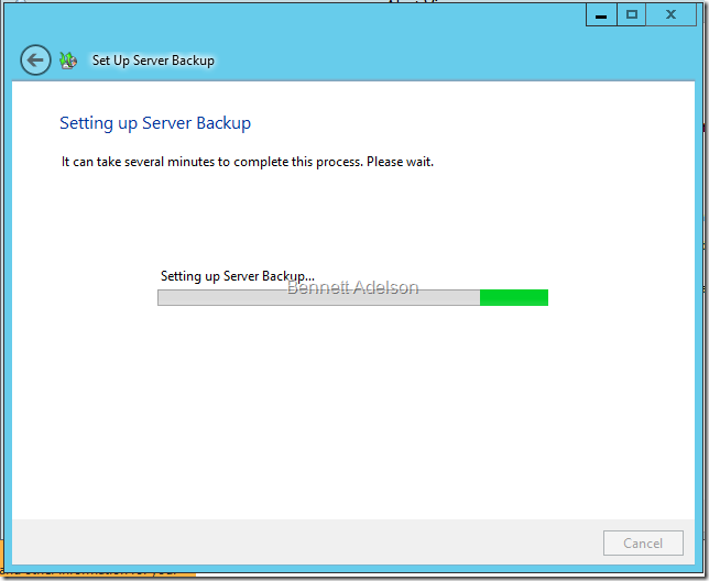 Setting up Server Backup