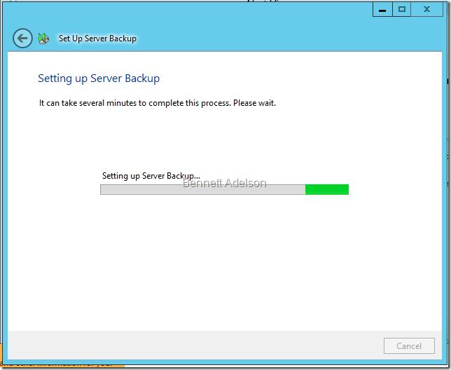 Setting up Server Backup