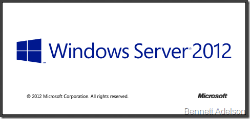 It's Windows Server 2012!