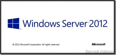 It's Windows Server 2012!