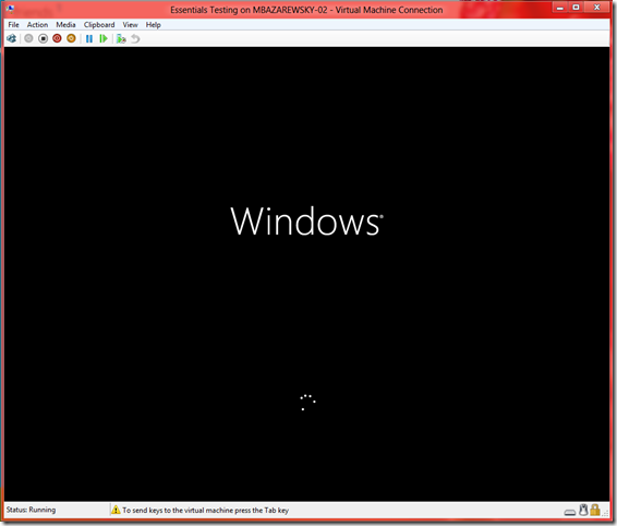 Initial Splash Screen