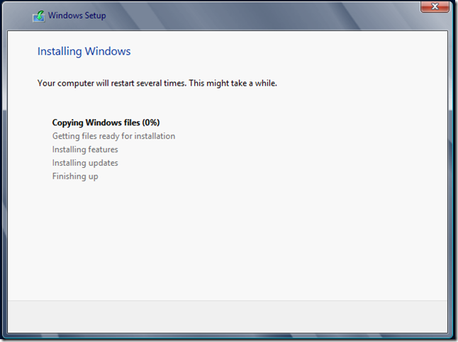 Installing Windows 1