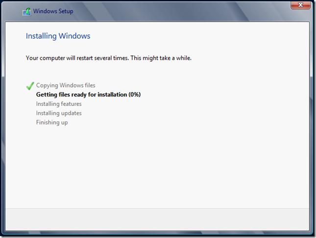 Installing Windows 2