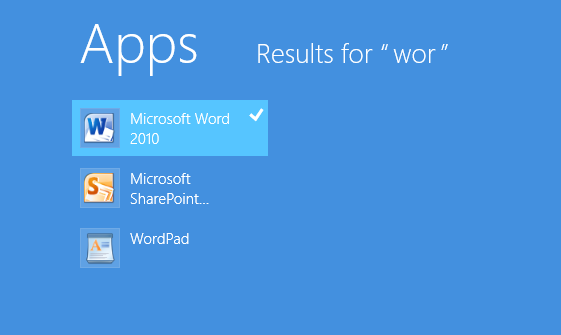 does windows 8 have microsoft word