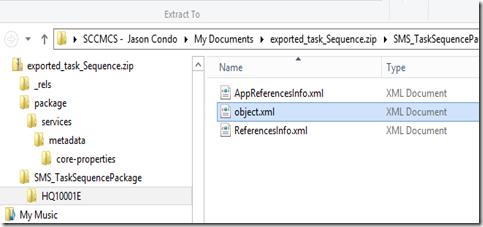open the object.xml file